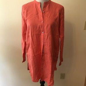 Eileen Fisher peach button down - womens small